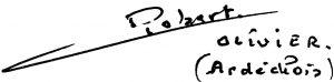 Robert Olivier signature